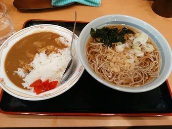 新橋駅 蕎麦 かのや カレーセット