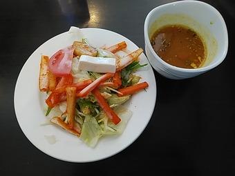 銀座インド料理カーンケバブビリヤニ ランチ サラダ スープ ラッサム