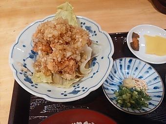 新橋 ひでや ランチ そうめん 素麺定食(夏季) 鶏唐揚げ