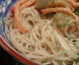本陣房 新橋店 ランチ 揚げ茄子と炙り揚げ梅肉おろし蕎麦