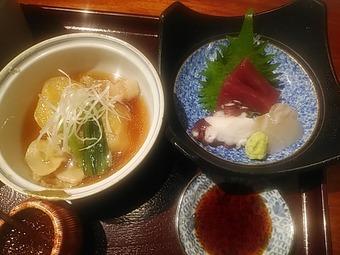 新橋 旧月 きゅうづき ランチ  お刺身・煮物とせいろの定食
