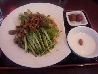 鴻星海鮮酒家 ほんせんかいせんしゅか ランチ 冷し坦々麺