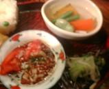 新橋 大友 ランチ 木の葉弁当 小鉢 煮物 トマトサラダ