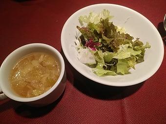 新橋ニコラス ピザランチ サラダ スープ