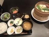 おば九 新橋駅前店 ランチ 豚バラ肉と野菜せいろ蒸し