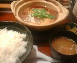 東京汐留ビルディング 大戸屋 熟成豚ロースかつの玉子とじ鍋定食