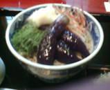 新橋駅前ビル 本陣坊 月替わり蕎麦 冷やし揚げ茄子そば