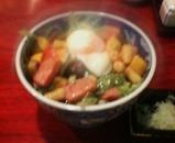 新橋 本陣房  本店 ランチ 夏野菜の冷かけそば