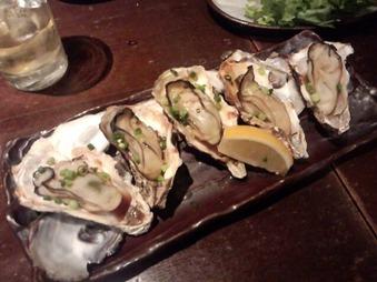 新橋 魚金 牡蠣焼き