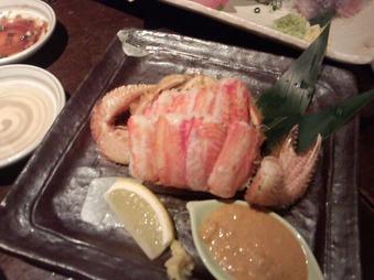 新橋 魚金 毛ガニ 毛蟹
