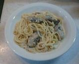 広島産牡蠣 クリームソースパスタ