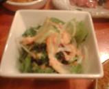新橋 鶏繁 とりしげ お通し サラダ