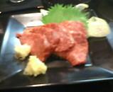 新橋 薩摩料理 きっちん かご 馬刺し