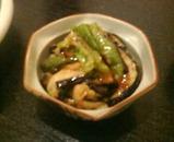 新橋 鎌田 茄子とピーマンの味噌炒め