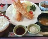 ラフォーレ白河ゴルフコース 昼食 エビフライ定食
