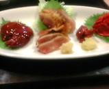 新橋 薩摩料理 きっちん かご 地鶏刺身