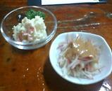 西大島 ゑびす ポテトサラダ みょうがぬた