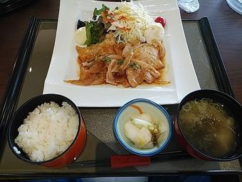 静ヒルズカントリークラブ(茨城) 昼飯 まごころポーク生姜焼き