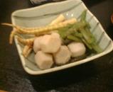 新橋 湘南地魚 かま田 は竹 里芋 ふき 煮物