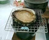 伊豆 宿の夕飯あわび