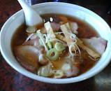 白河 ラーメン 火風鼎 かふうてい チャーシューワンタンメン麺