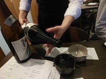 銀座の金沢 コース 日本酒フリー