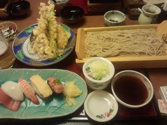 合宿免許 寿司蕎麦天ぷら