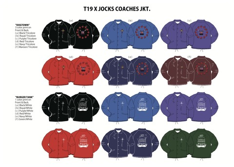T19 SKATEBOARDS COACHES JACKET.