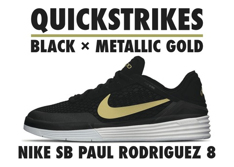 P.ROD 8 QS / BLACK × METALLIC GOLD