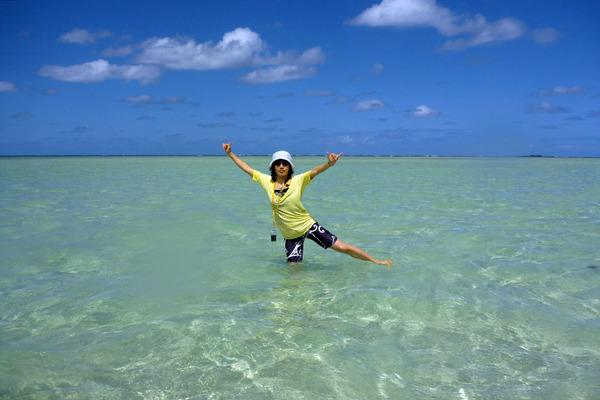 天国の海カネオヘサンドバー10年の水位 2010