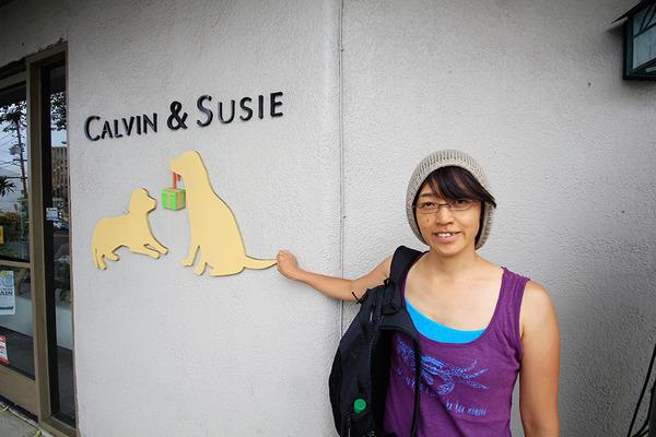 ハワイのペット用品店主にワンコ犬 3