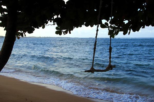 オアフ東海岸ビーチのブランコ 2