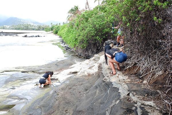ハワイオアフ島ポートロックの秘密のベンチ 8