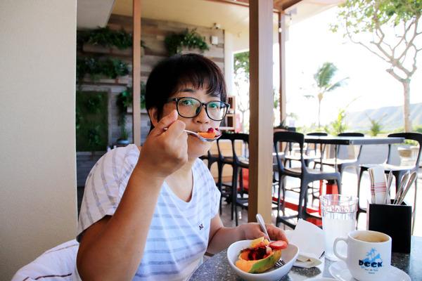 クイーンカピオラニホテルのデックの朝食美味い 8