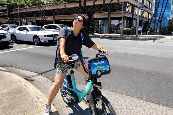 ハワイのレンタル自転車BIKIはとても便利 8