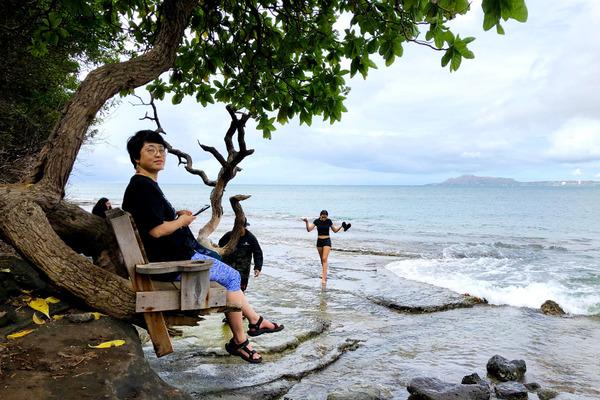 ハワイオアフ島ポートロックの秘密のベンチ 5
