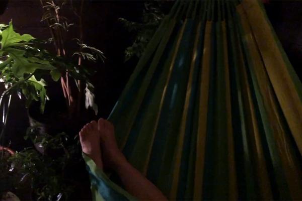 ハワイ島ヒロのバケレンのラナイ
