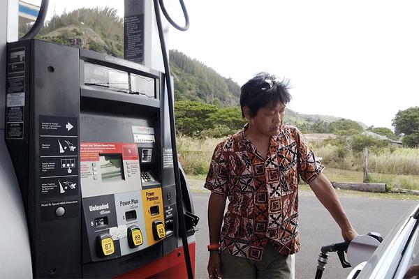ノースショアカメ亀渋滞ガソリンスタンド 7