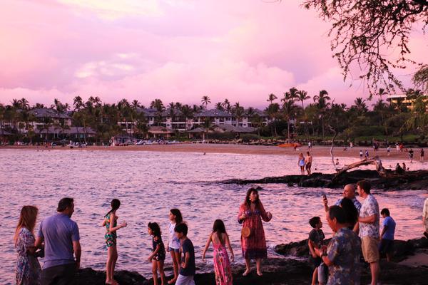 ハワイ ワイコロア サンセット 12