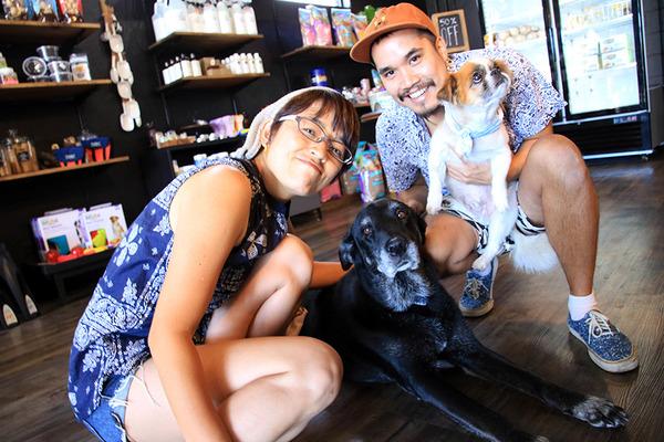 ハワイのペット用品店主にワンコ犬 5