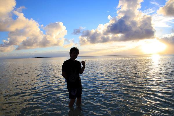天国の海カネオヘサンドバー10年の水位 2019