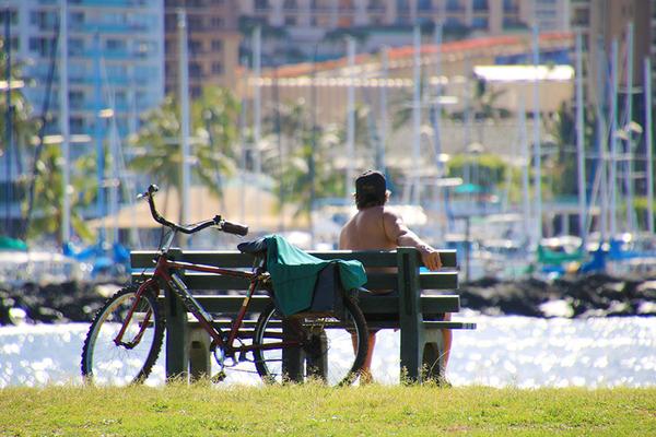 アラモアナビーチマジックアイランド散策 1