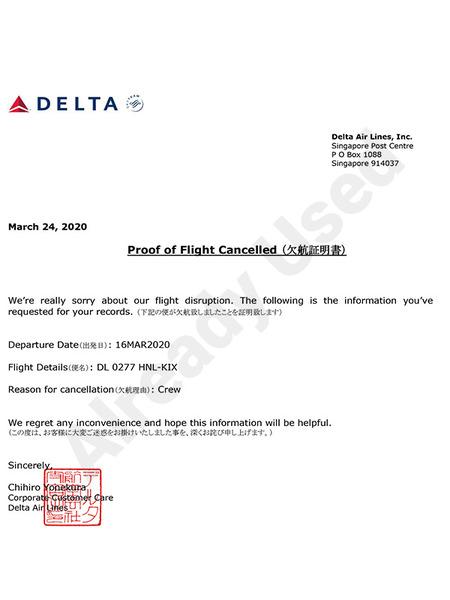 デルタ航空欠航でJALに振替その時とった行動は 8
