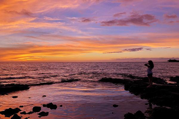 ハワイ ワイコロア サンセット 8
