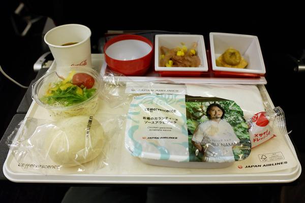 JALハワイ線機内食2
