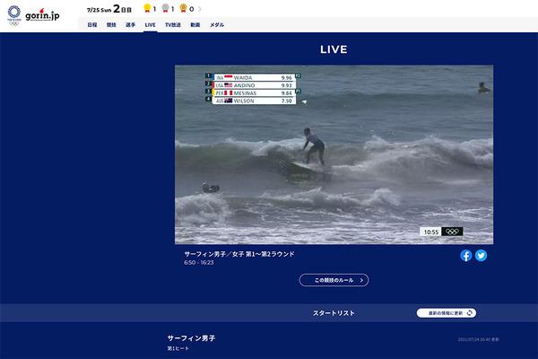 2020東京オリンピックサーフィン競技ライブ中継 2