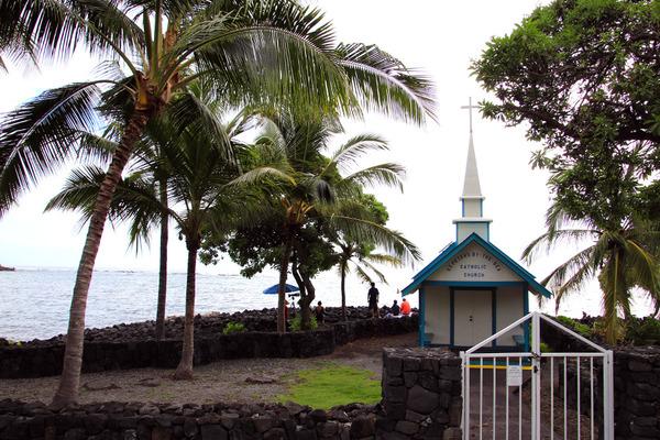 ハワイ島小さなブルーの教会結婚式カハルウビーチ 3