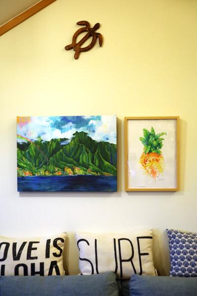 ハワイアンインテリアおうちハワイのリビング  5