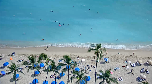 イマハワイロイヤルハワイアン前ビーチ