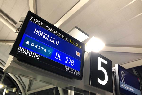 デルタ航空ハワイ線運休情報